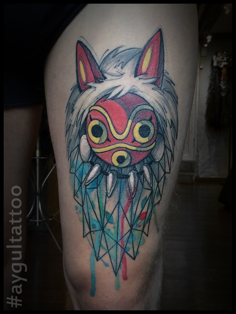 #princes #mononoke #watercolor #aygultattoo