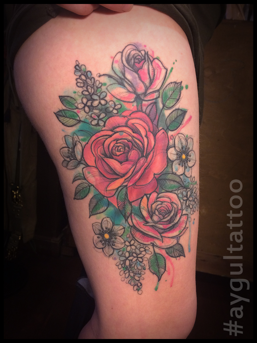 #roses #watercolor #aygultattoo