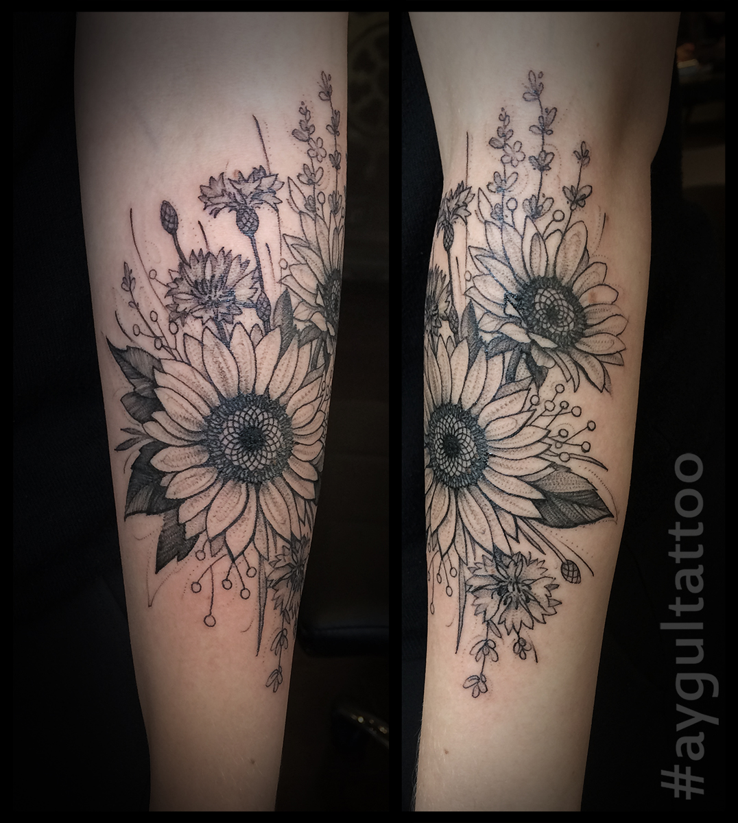 #sunflowers #sketchy #at #aygultattoo
