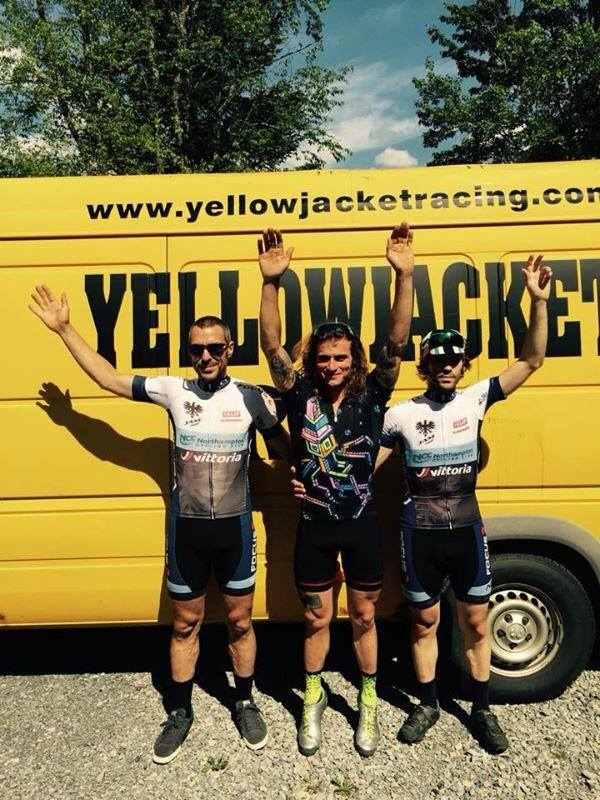 Anthony Clark, Al Donahue and Chris Niesen go 1-2-3 at the Black Fly Challenge on June 13.