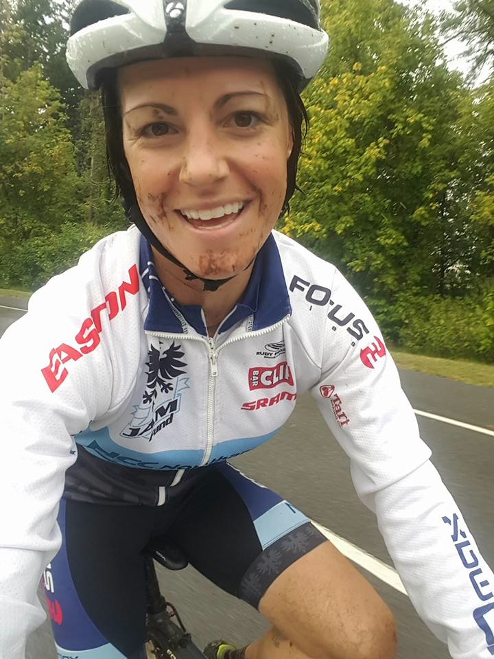 Jena Greaser has a background in cross country mountain biking but says cross is her main love. Here she is at Nittany Lion Cross where she finished top ten both days in the UCI women's race.