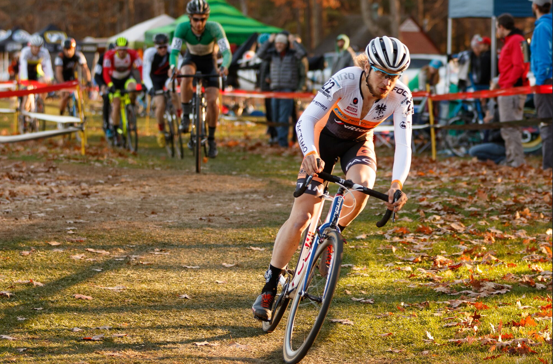 Scott Smith had an aggressive start to Sunday's race, giving him a 6th place finish overall and winning the U23. Photo by Todd Prekaski.
