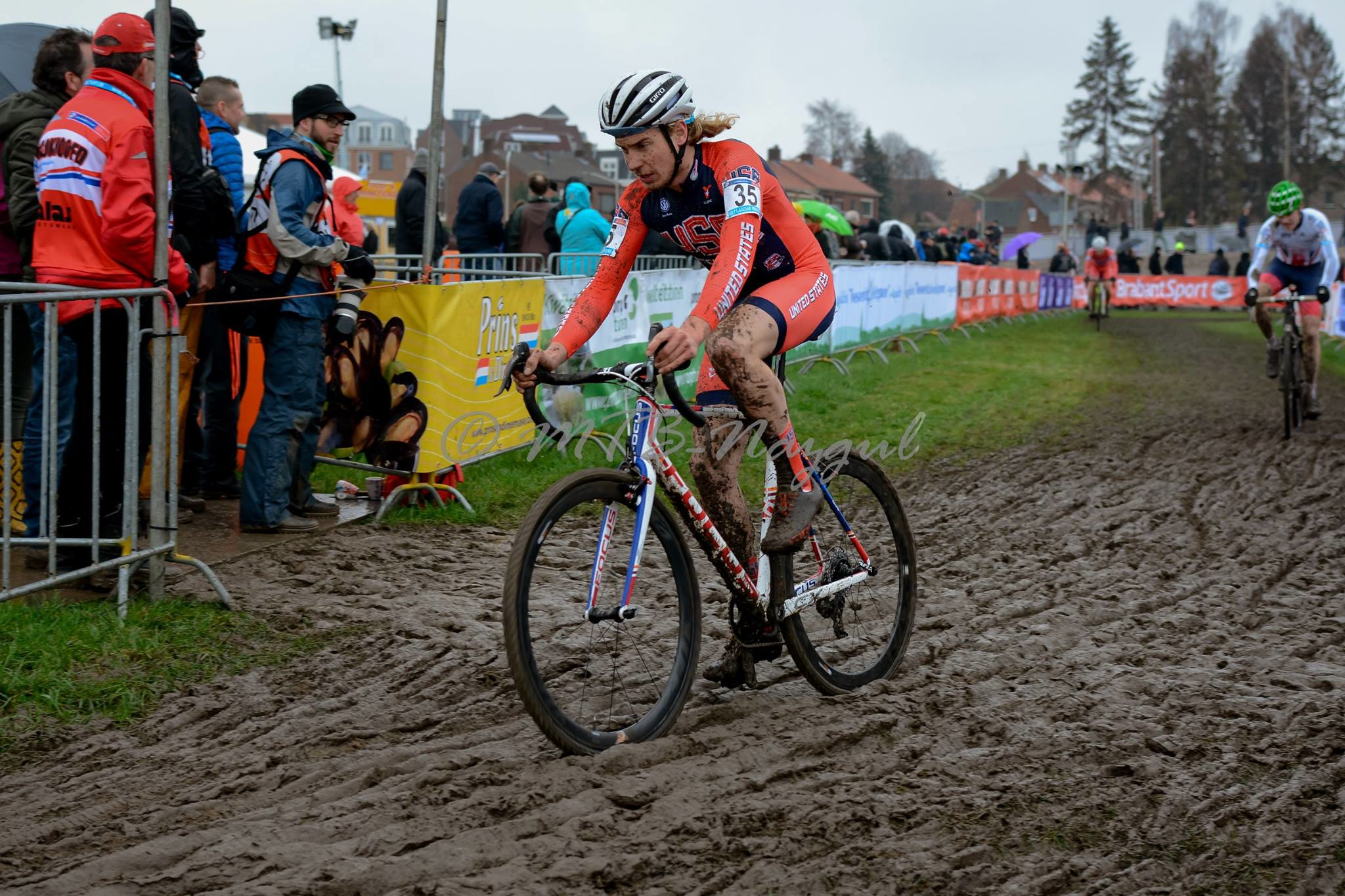 Scott Smith welcomed the mud and ruts in his first-ever World Cup race. Photo by Kristel Van Gilst.