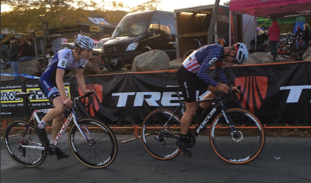 Jack Kisseberth was on the wheel of JAM Fund Co-Founder and National Champion Jeremy Powers during Saturday's race until putting in an effort, getting around and finishing 7th.