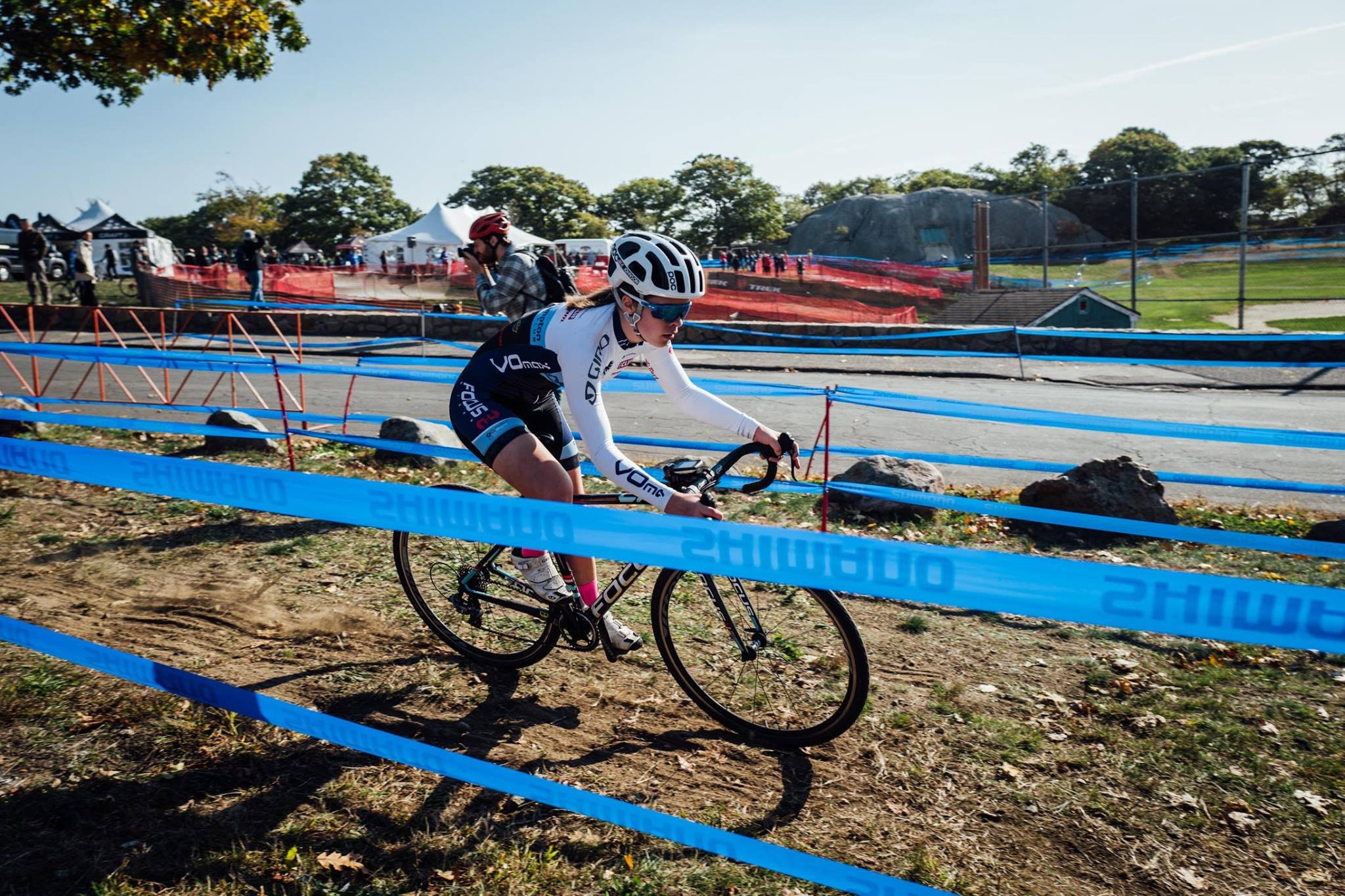 Katie Johnson raced in a large Cat 4 field of 78 riders. Photo by Health Warrior/Garneau.