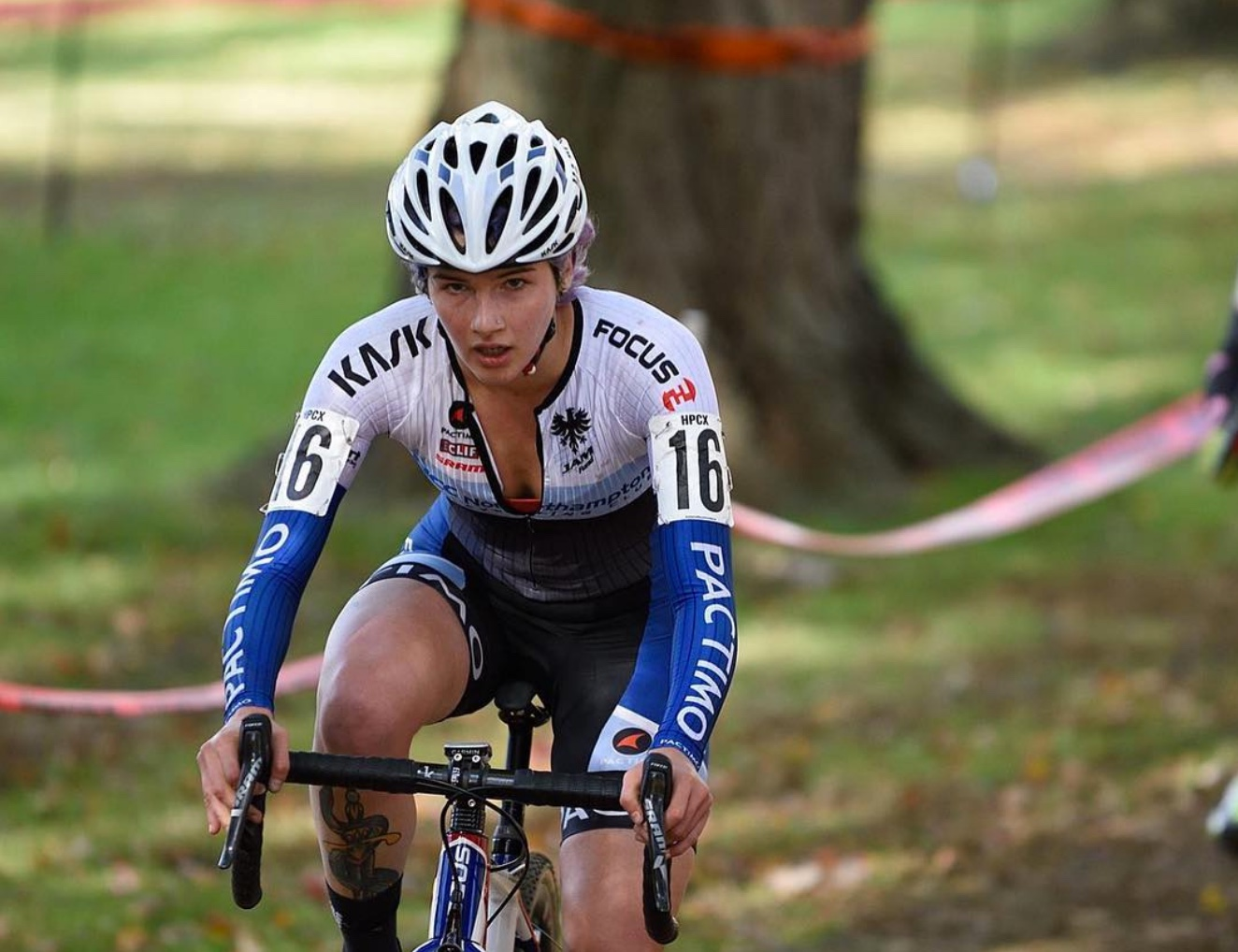 Rhys May focuses on the course ahead at the NBX Gran Prix of Cyclocross on Dec. 3.