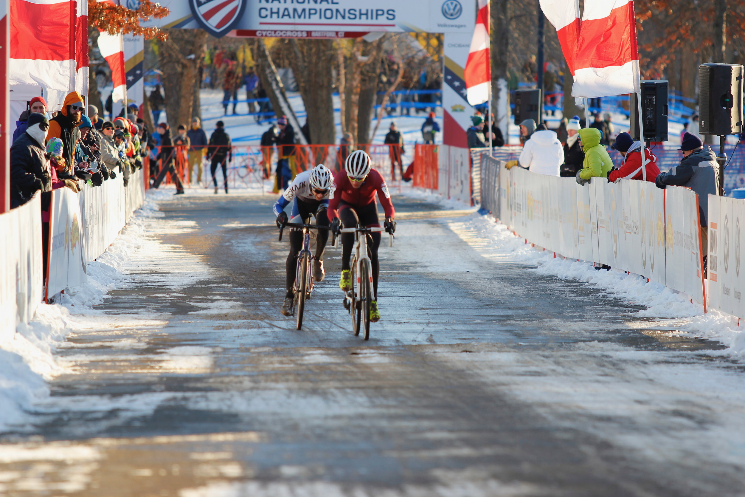 With six laps to go, Jack Kisseberth was on the wheel of last year's U23 national champion Tobin Ortenblad (Santa Cruz Racing). Kisseberth passed Ortenblad and held him off to finish eight seconds ahead in fourth place. Photo by Vicky Sama.