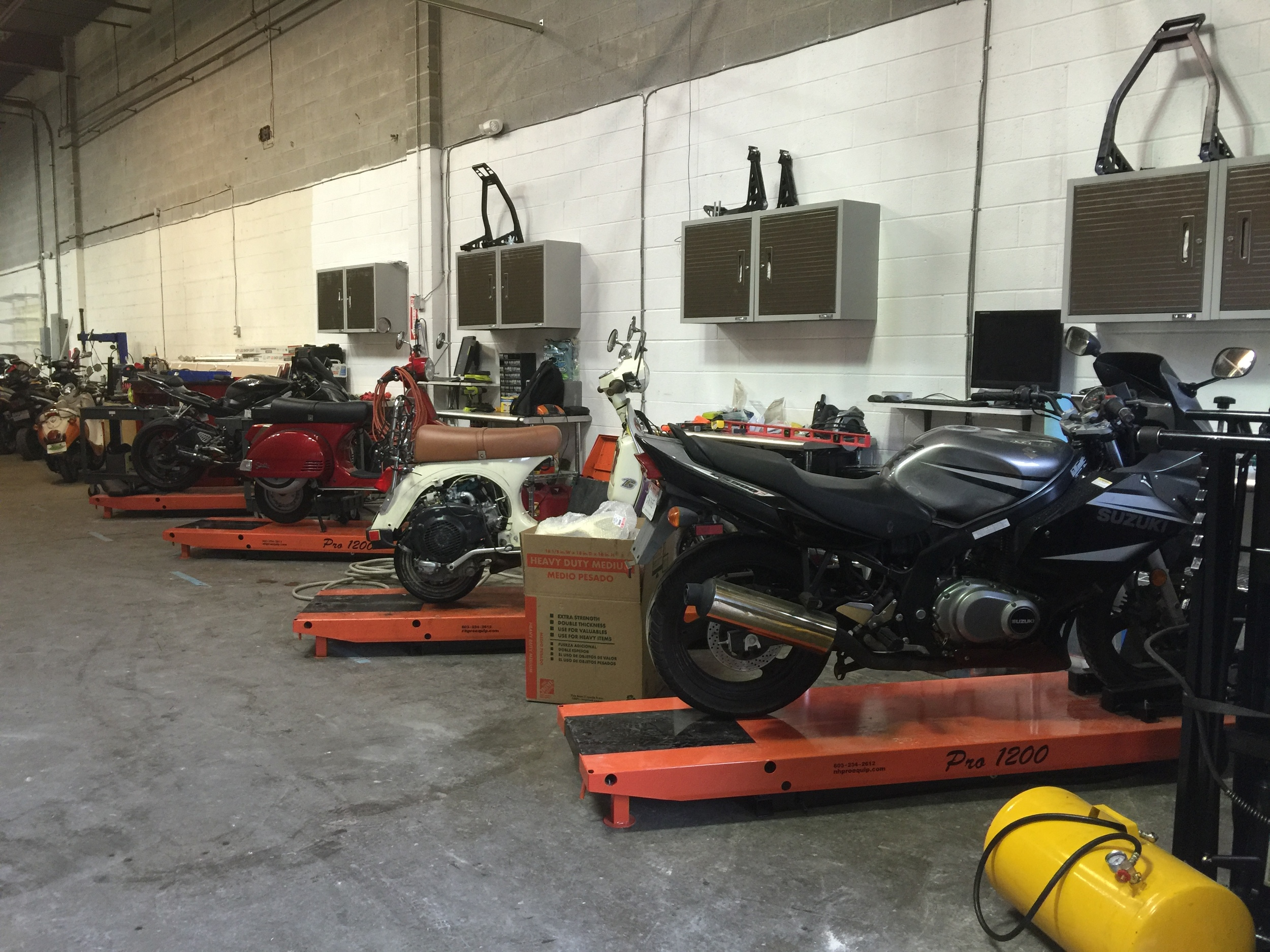 #Postedup customers' bikes in service!