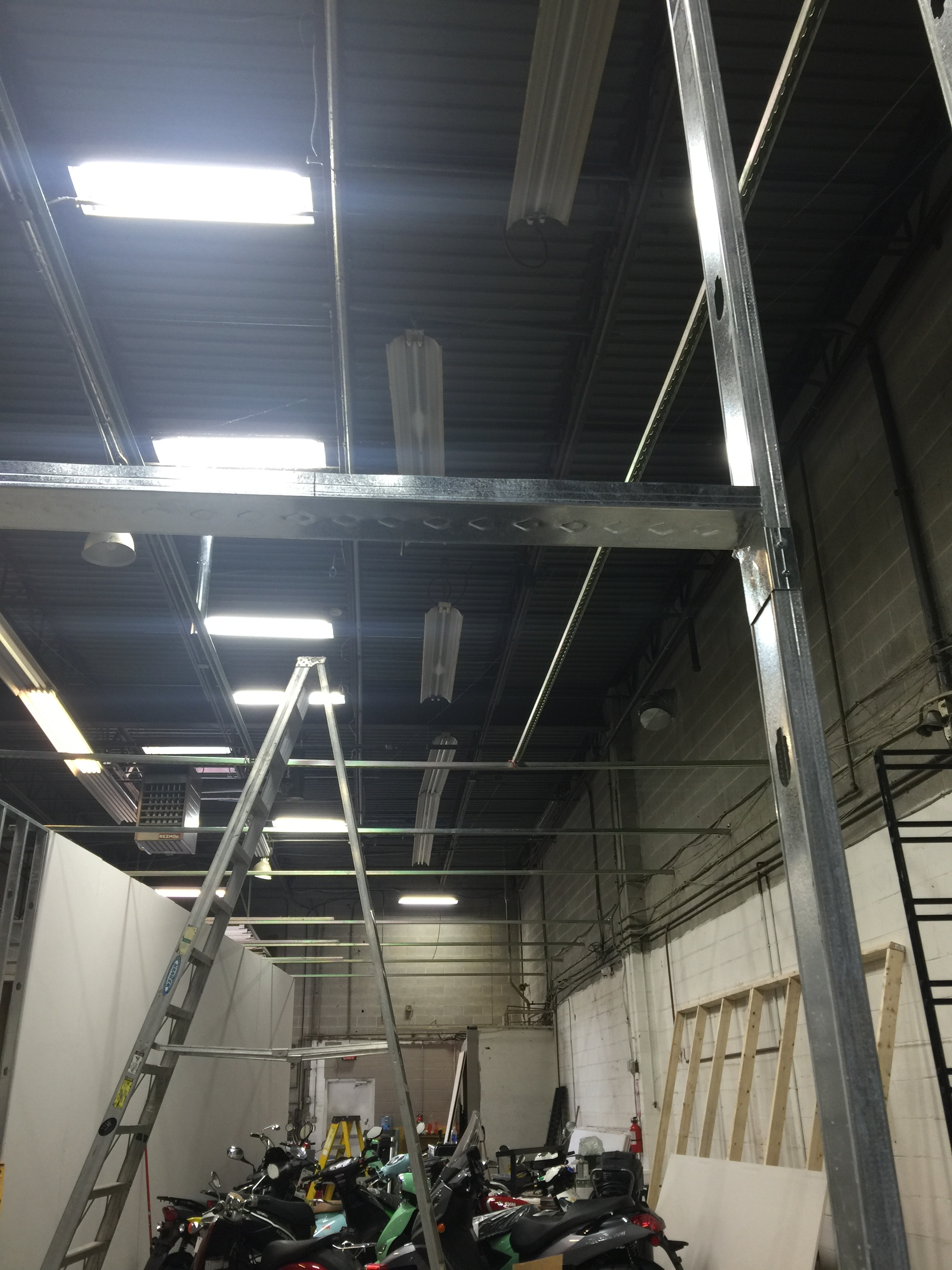 Ceiling construction coming along nicely.