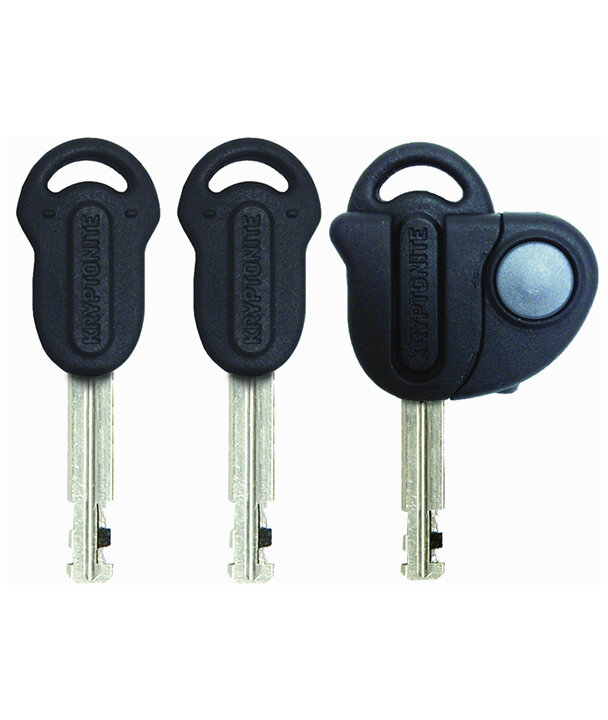 Kryptonite Stronghold with E4 Black Disc Lock and 1016 5.25 ft Integrated Chain