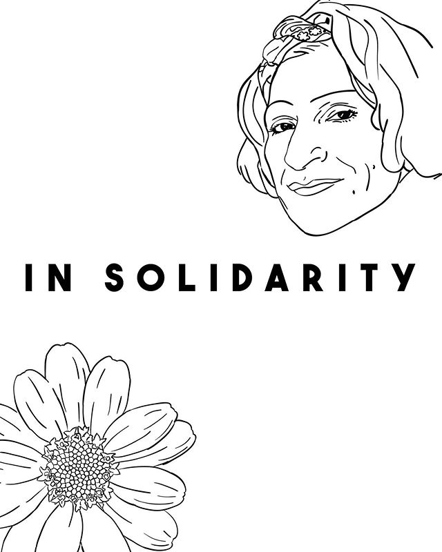 """Very excited to share with you that I've worked on the cover and layout of the most recent """"In Solidarity"""", @sylviariveralawproject's Prisoner Advisory Committee newsletter, featuring the poetry and artistry of currently incarcerated TGNCI members. You can purchase a copy and help support the great work that they do, either at tonight's event or purchasing online (which will be available next week). #SylviaRivera #MarshaPJohnson #Stonewall50 #Pride"""