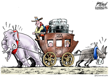 2013  Donkey and Elephants: A Celebration of American Political Cartoons.  The election year inspired Studio Gallery to curate a show of American political cartoons.