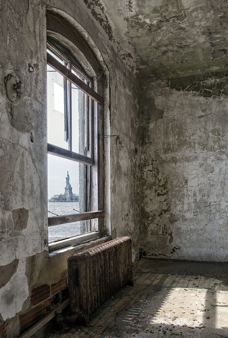 Ellis Island Immigrant Hospital by Gary Anthes
