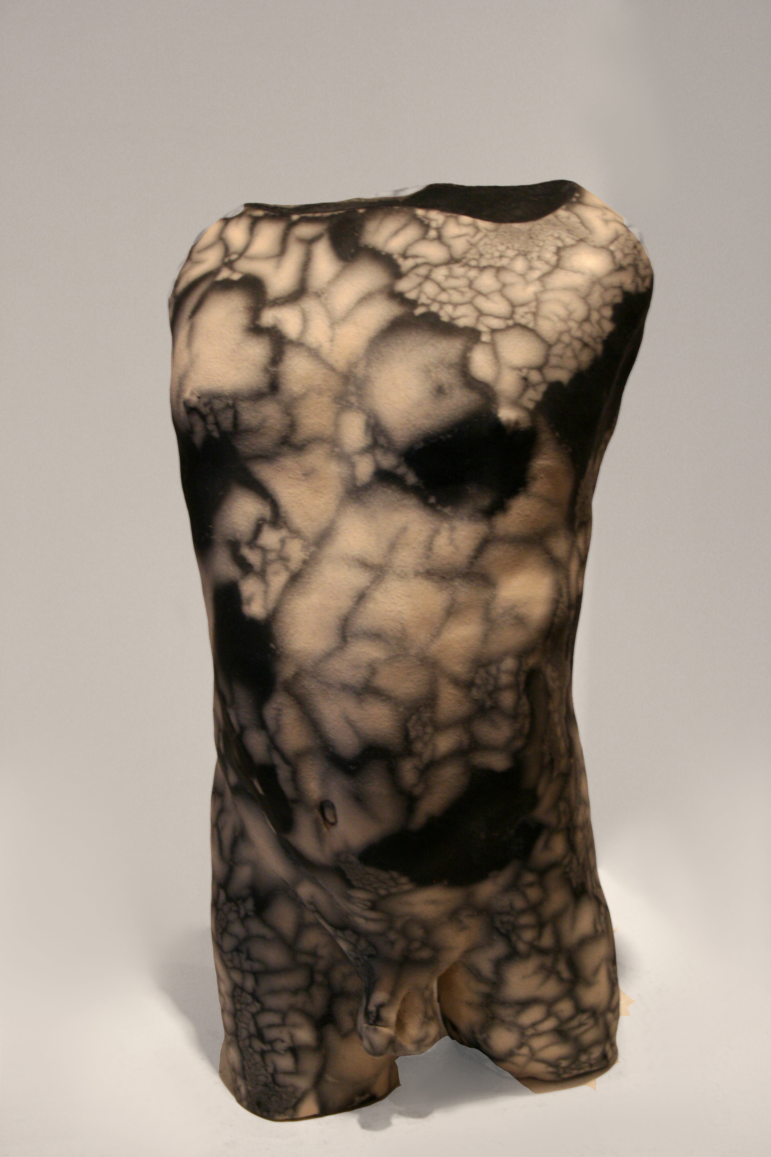 "Here   Raku-Fired Ceramic  12"" x 6"" x 7""  $1,000   Click to Inquire"