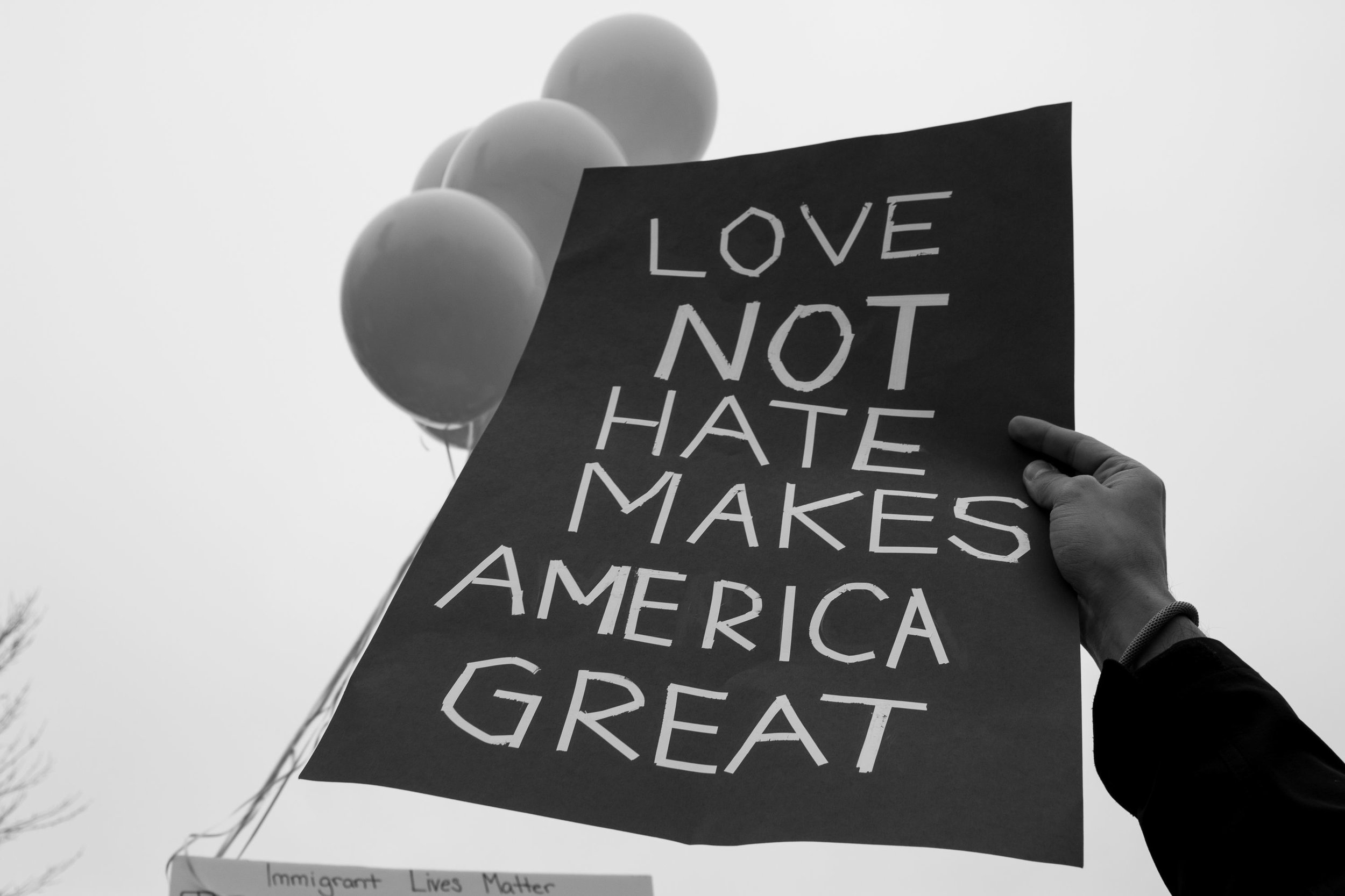 "Love Not Hate   Lisa Allen  Archival Pigment Print  20"" x 14""  $350   Click here to inquire."