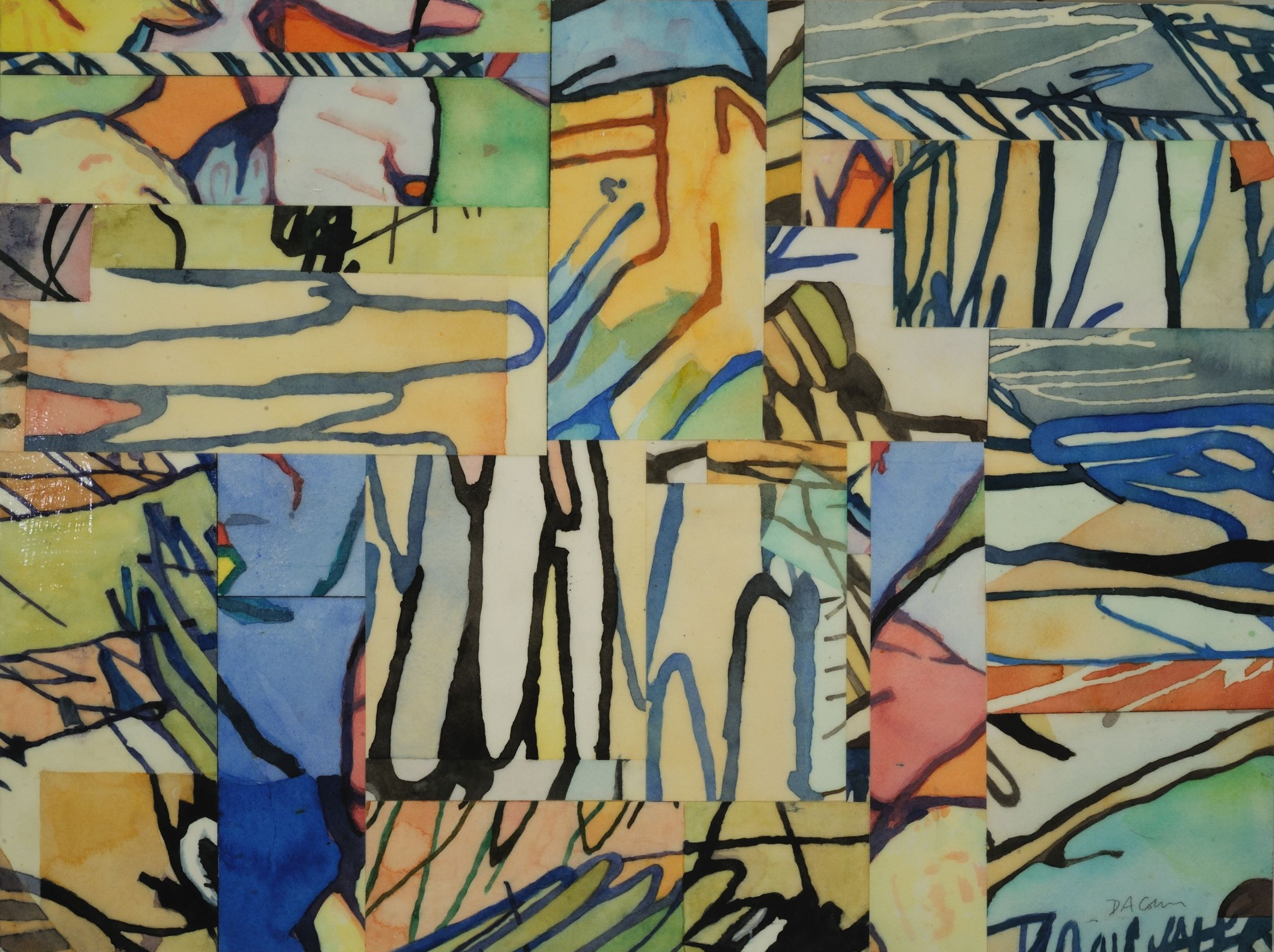 """Go With the Flow   Deborah Addison Coburn  Watercolor on Arches Paper, Mounted on Board  24"""" x 18""""  $650   Click to Inquire"""