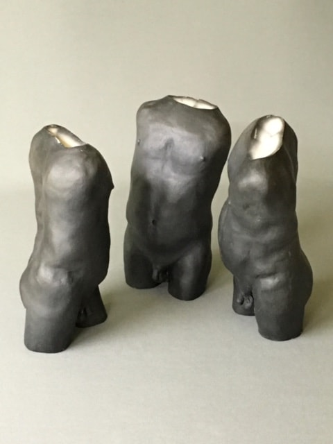 "Standing Around   Raku-Fired Ceramic  8"" x 11"" x 10""  $1,800   Click to Inquire"