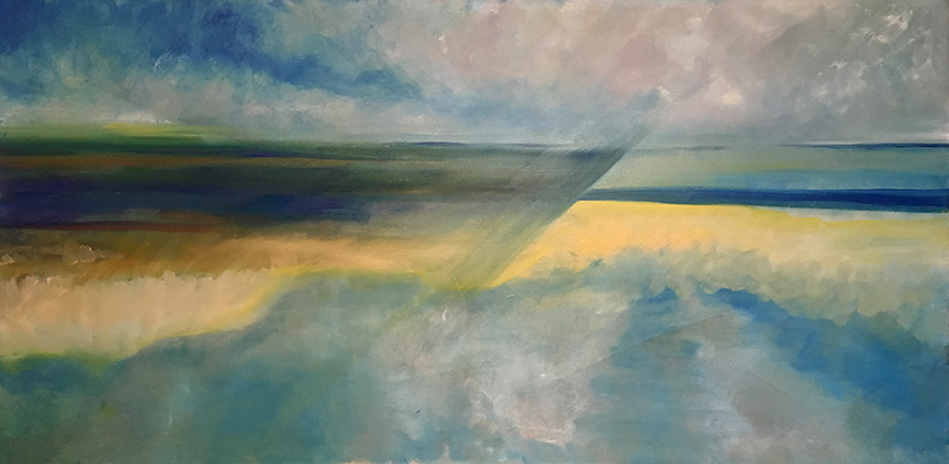 """Cold Front   Carolee Jakes  Oil on Canvas  36"""" x 72""""  SOLD"""