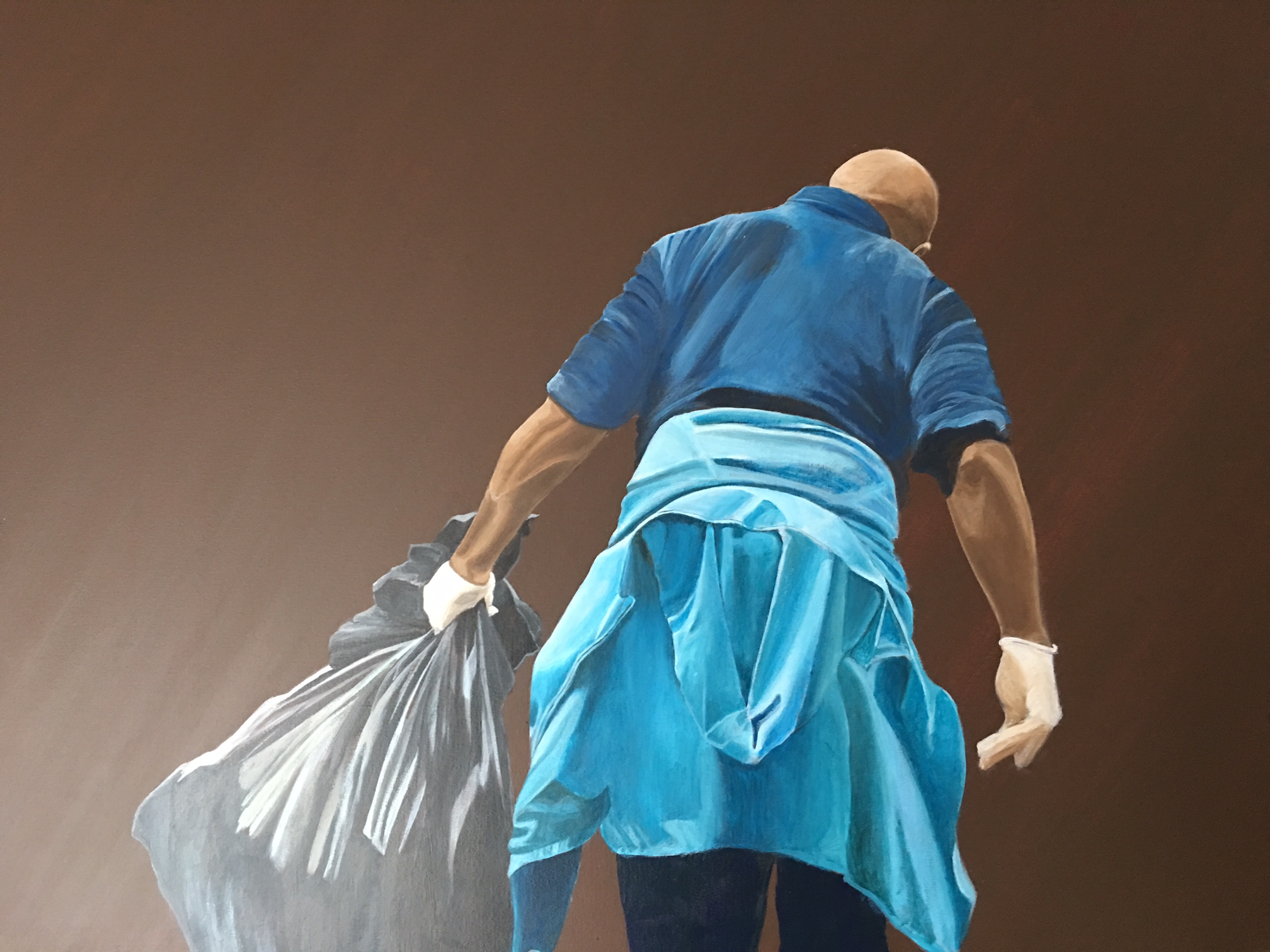 """Someone Has to Do It   Monica Perez-Roulet  Acrylic on Canvas  30"""" x 40""""  NFS"""