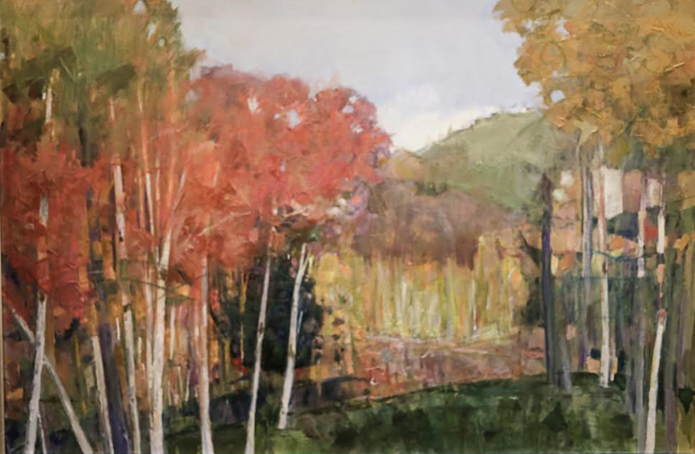 """Aspen   Sally Levie  Oil on Canvas  24"""" x 36""""  $1,200   Click here to Inquire"""