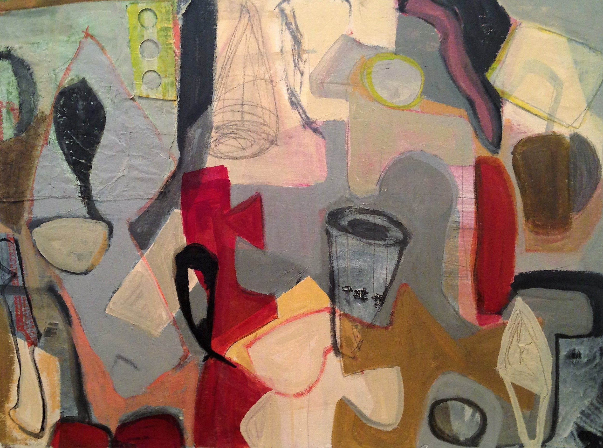 """When Worlds Collide   Pam Frederick  Mixed Media on Paper  22"""" x 30""""  $950   Click here to Inquire"""