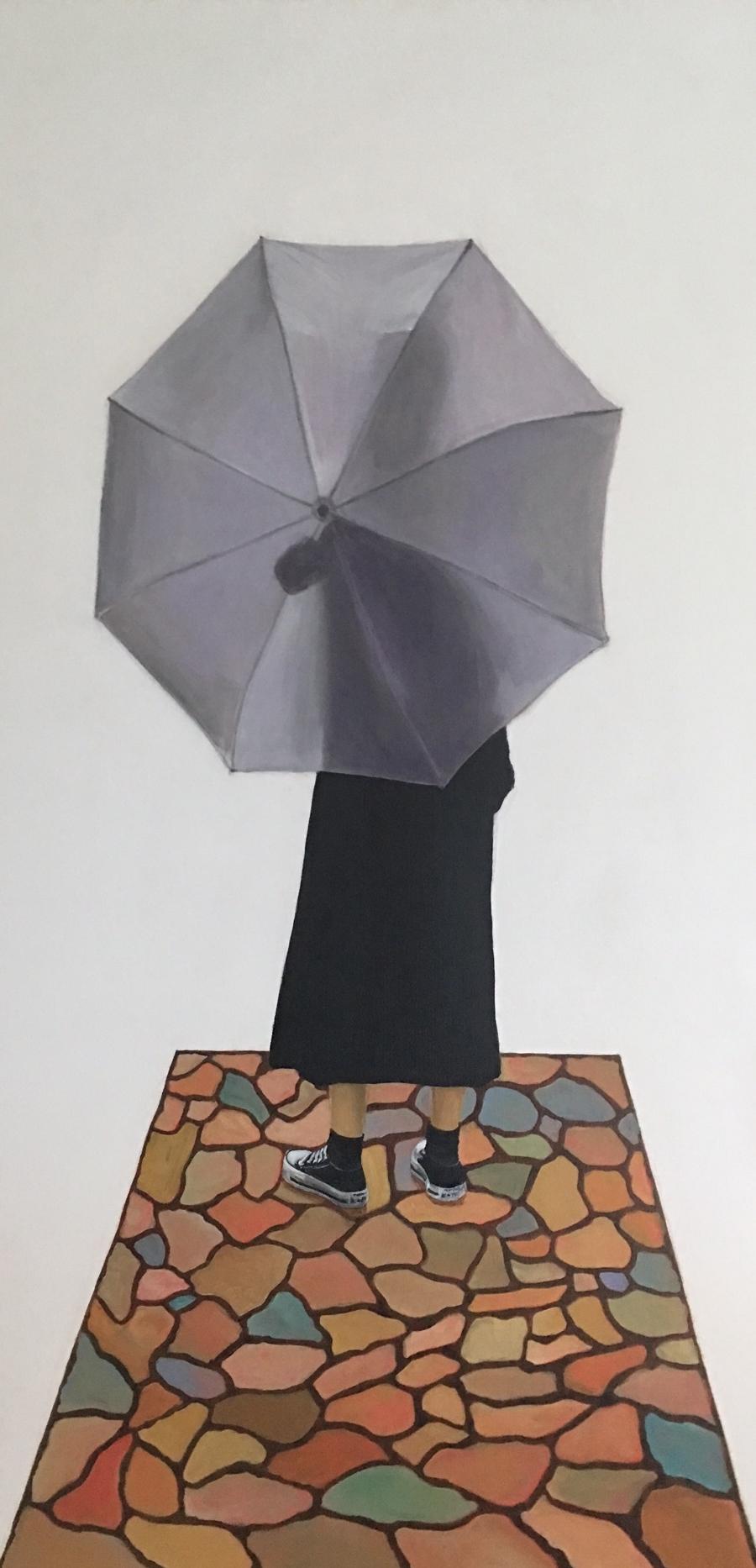 "Longings (Añoranzas)   Monica Perez-Roulet  Acrylic on Canvas  24"" x 48""  NFS"