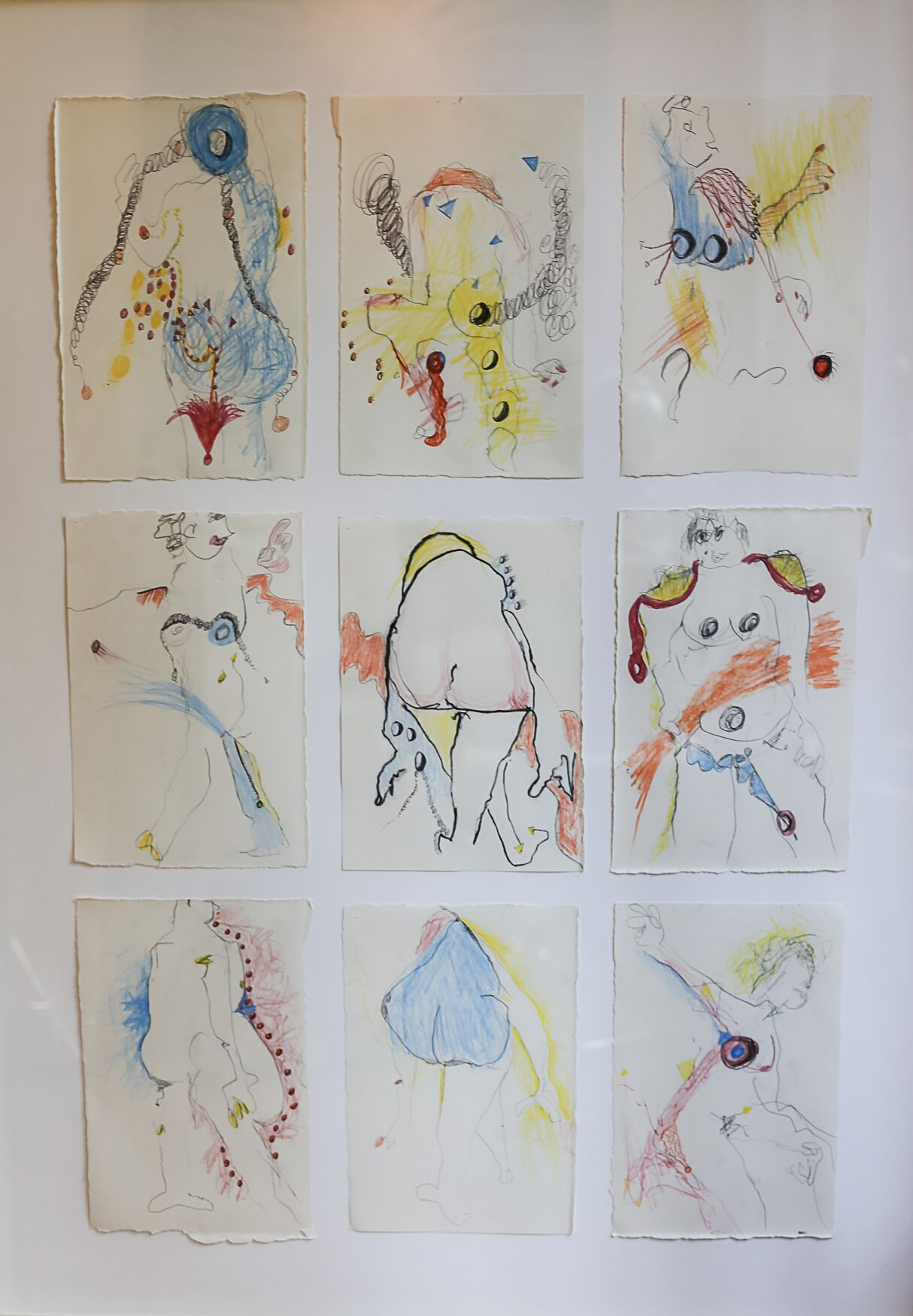 """The Gang's All Here   Amy Davis  Colored Pencil on Paper  39"""" x 29""""  $800   Click here to Inquire"""