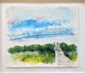 """Fripp Island at Dawn   Gordon Binder  Oil on Paper  14.5"""" x 16.5""""  $685   Click here to Inquire"""