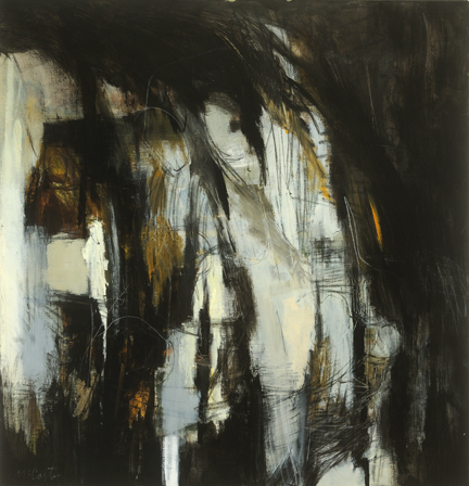 "After the Fall   Joyce McCarten  Acrylic and Charcoal  44"" x 45.5""  SOLD"
