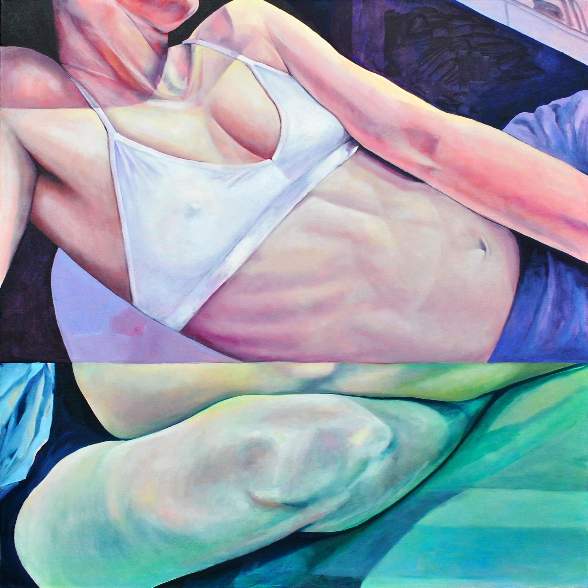 """Self, Reflection   Nicole Ida Fossi  Oil on Canvas  40"""" x 40""""  $1200   Click here to Inquire"""