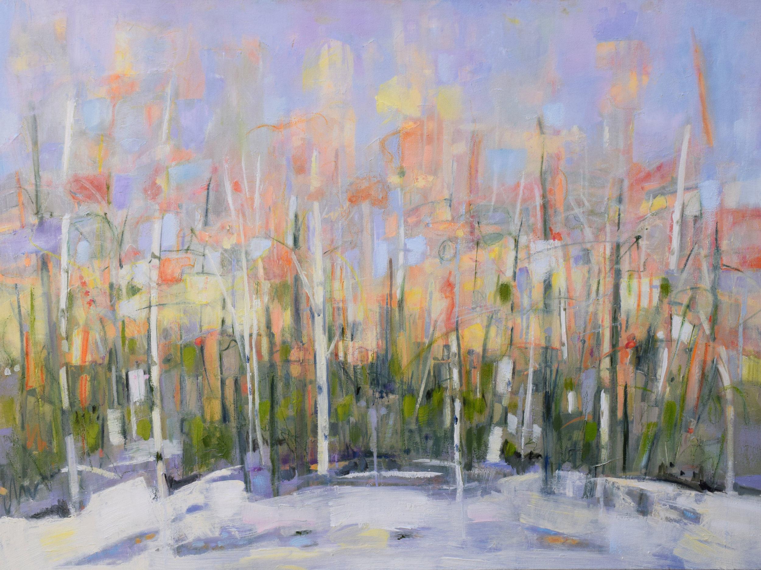 "#30 Winter - Virginia   Oil on Canvas  31"" x 41""  $2200   Click to Inquire"