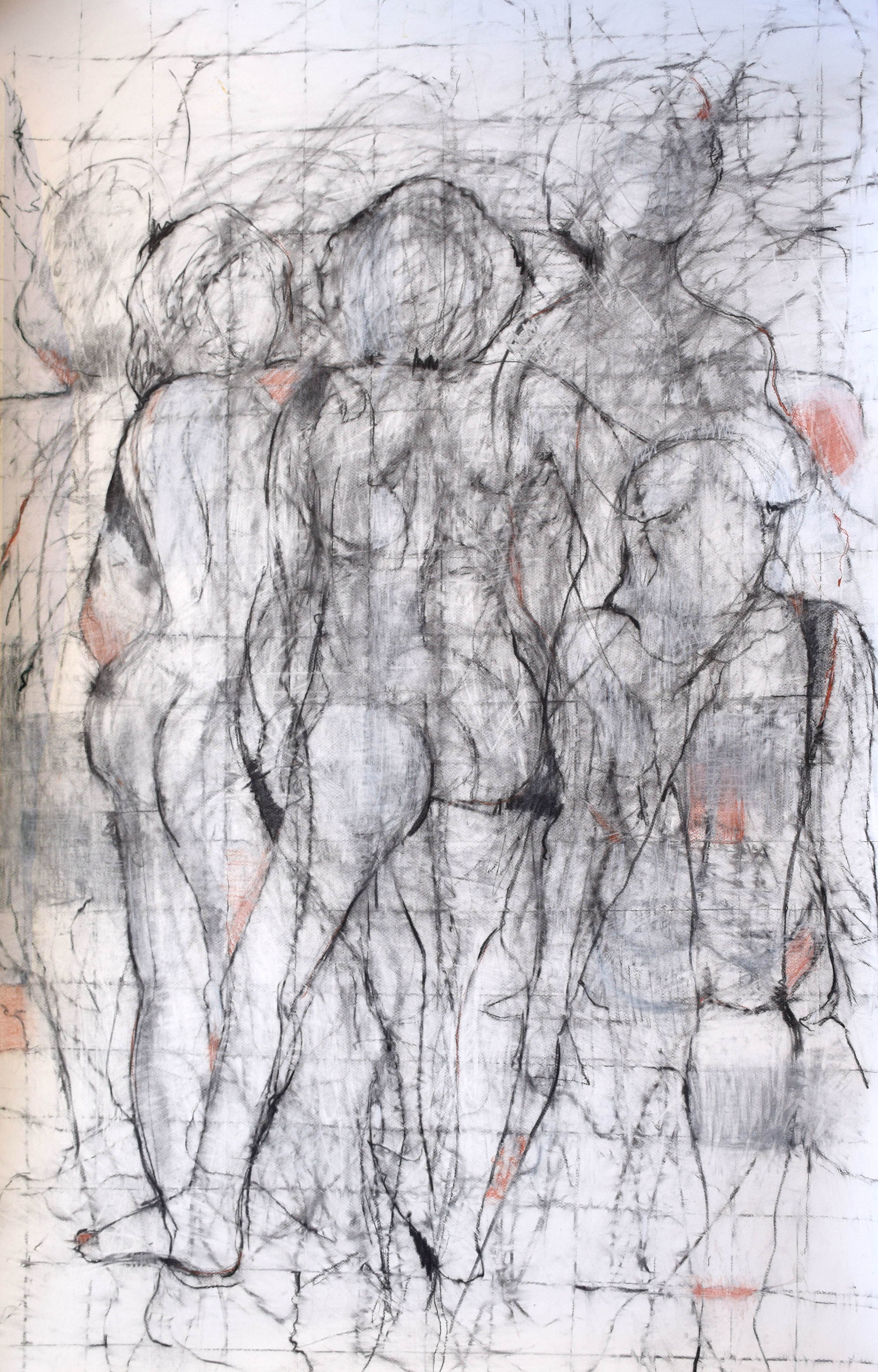 """#19 Mankind   Ink and Conte on Paper  43"""" x 63""""  NFS"""