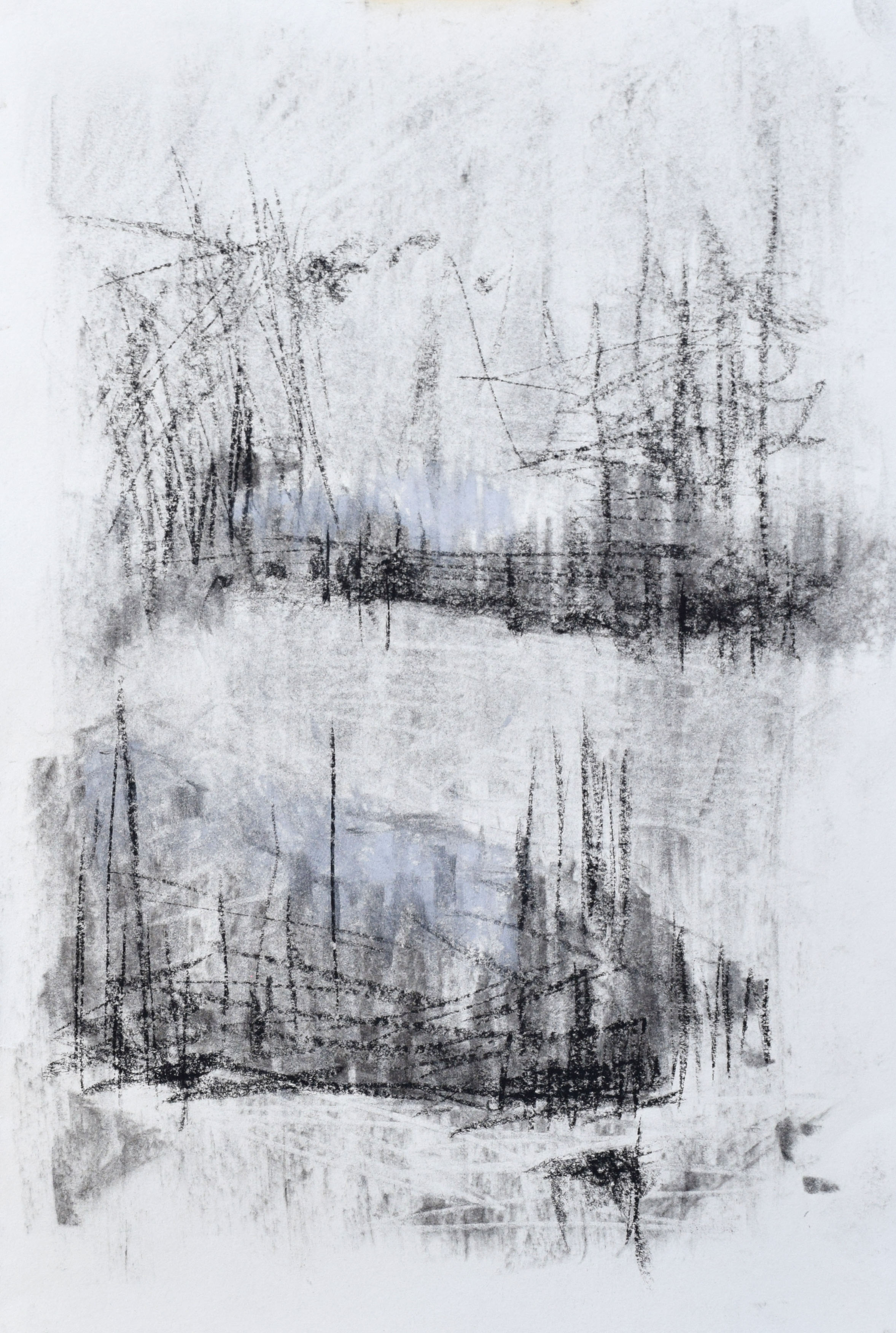 """#7 Yosemite III   Charcoal on Paper  11"""" x 15""""  $325   Click to Inquire"""