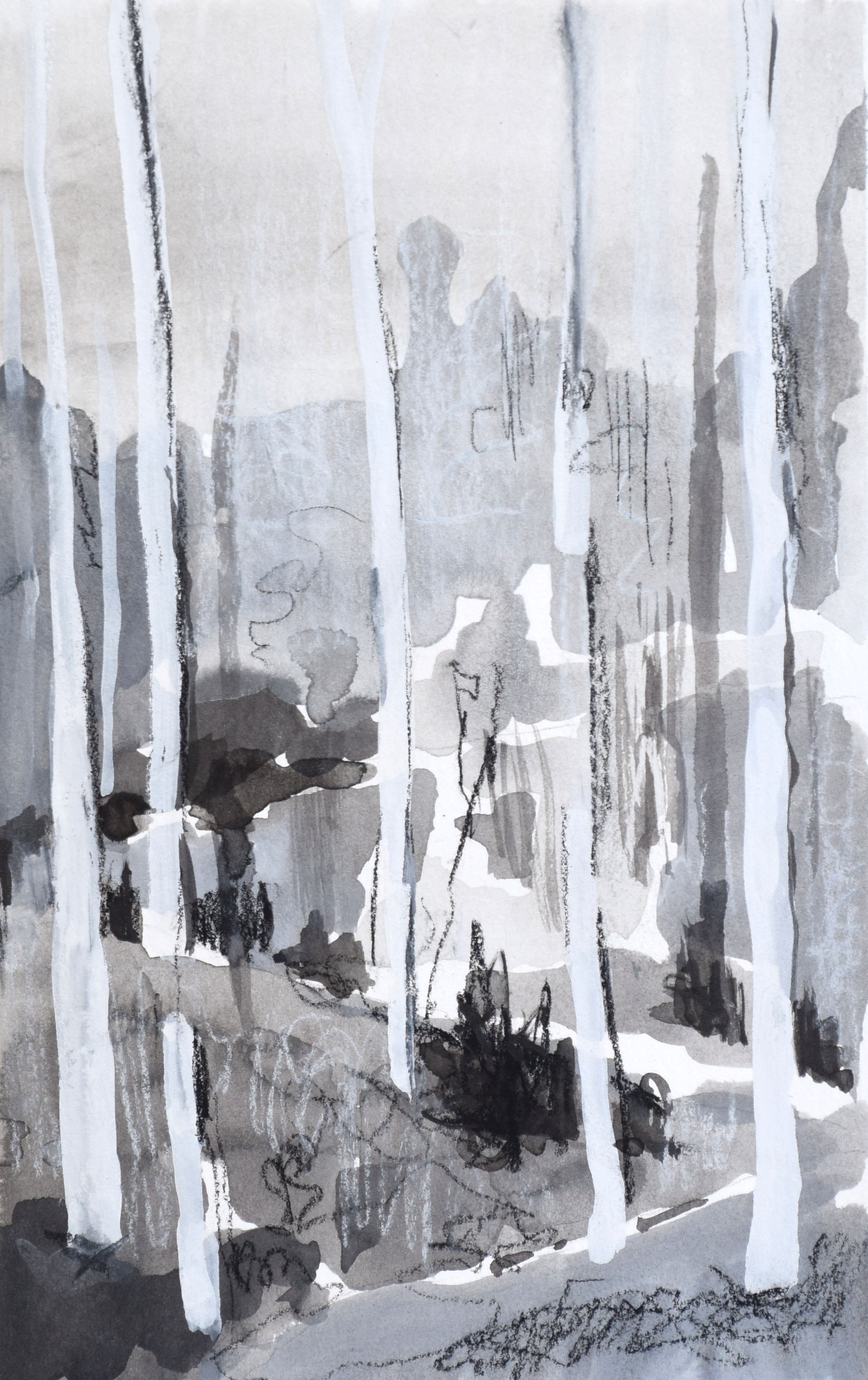 """#13 Netimus II   Ink and Gouache on Paper  13"""" x 16""""  $350   Click to Inquire"""
