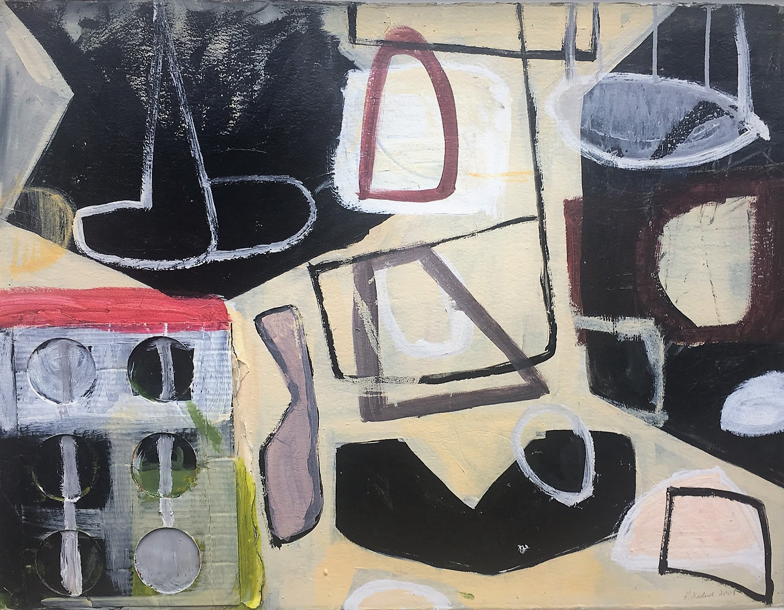 """Pam Frederick   Mixed Media and Collage  22"""" x 30""""  $1,110   Click here to Inquire"""