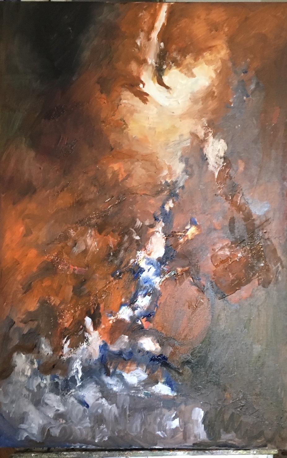 """Suzanne Goldberg   Oil on Canvas  24"""" x 36""""  $1500   Click here to Inquire"""