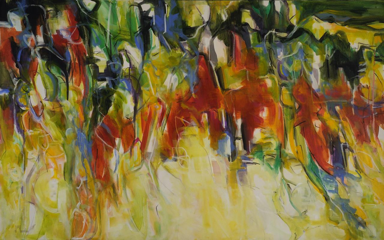 "Suzanne Yurdin   Mixed media on canvas  48"" x 30""  $2800   Click here to Inquire"