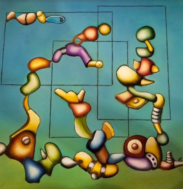 "Trix Kuijper   Oil on canvas  18""x18""  $500   Click here to Inquire"
