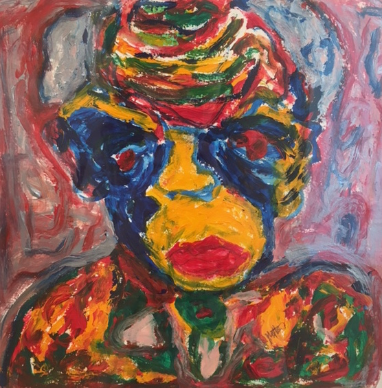 """Yvette Kraft   Acrylic on paper  19"""" x 19""""  $805   Click here to Inquire"""