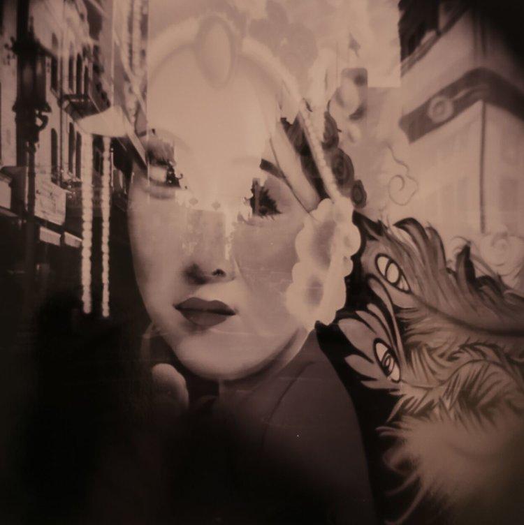 "Lisa Allen   Archival pigment print of film  14"" x 14""  SOLD"