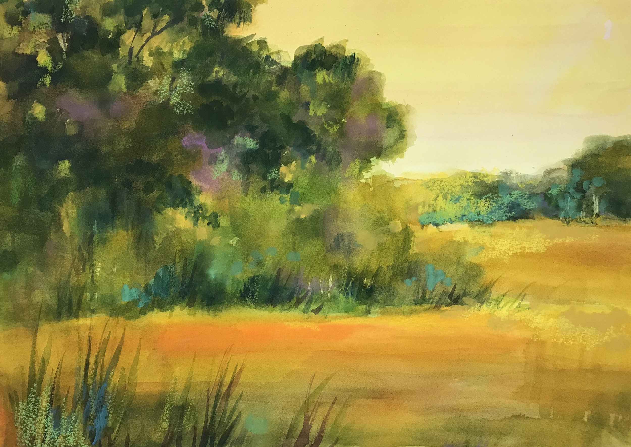 """Freda Lee-McCann   Watercolor  17"""" x 21""""  $350   Click here to Inquire"""