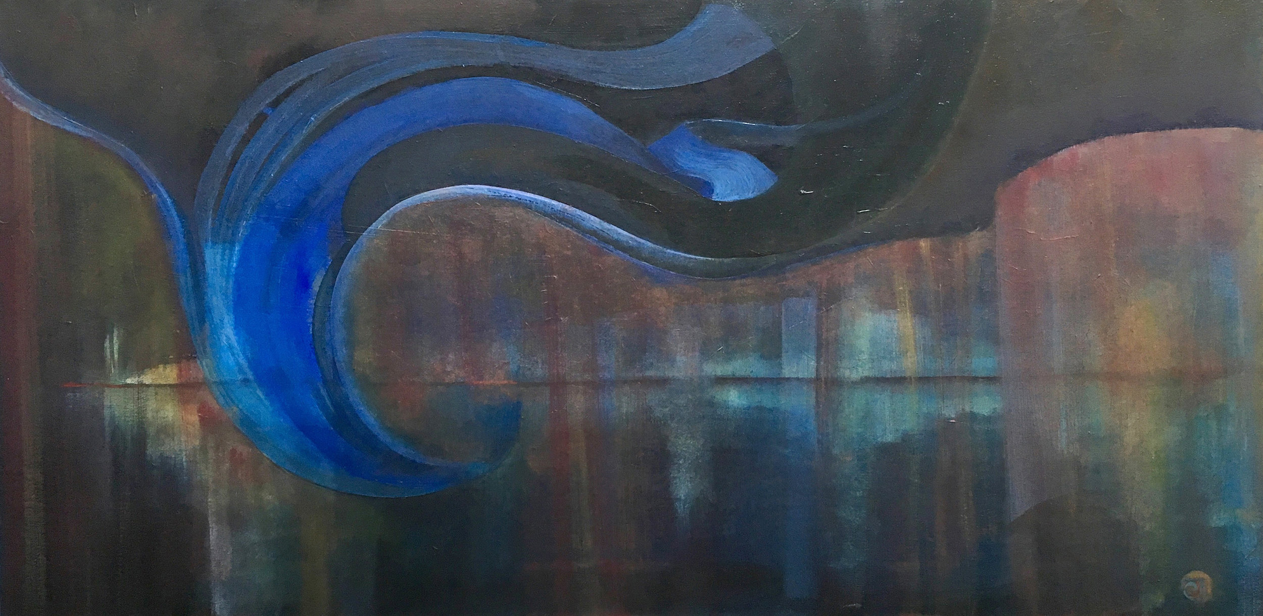 "The Deep and Lovely Dark   Oil on Canvas  24"" x 48""  $1,500  Click Image to Expand   Click here to Inquire"