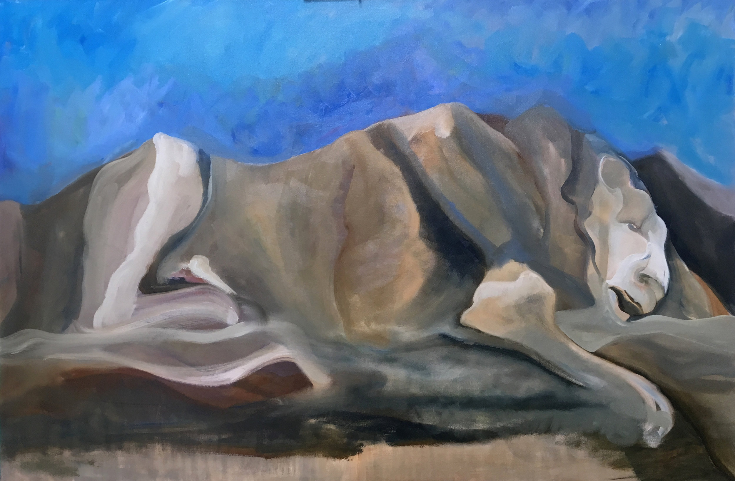 "She Lives in the Mountains   Oil on Canvas  40"" x 60""  $2,000  Click Image to Expand   Click here to Inquire"