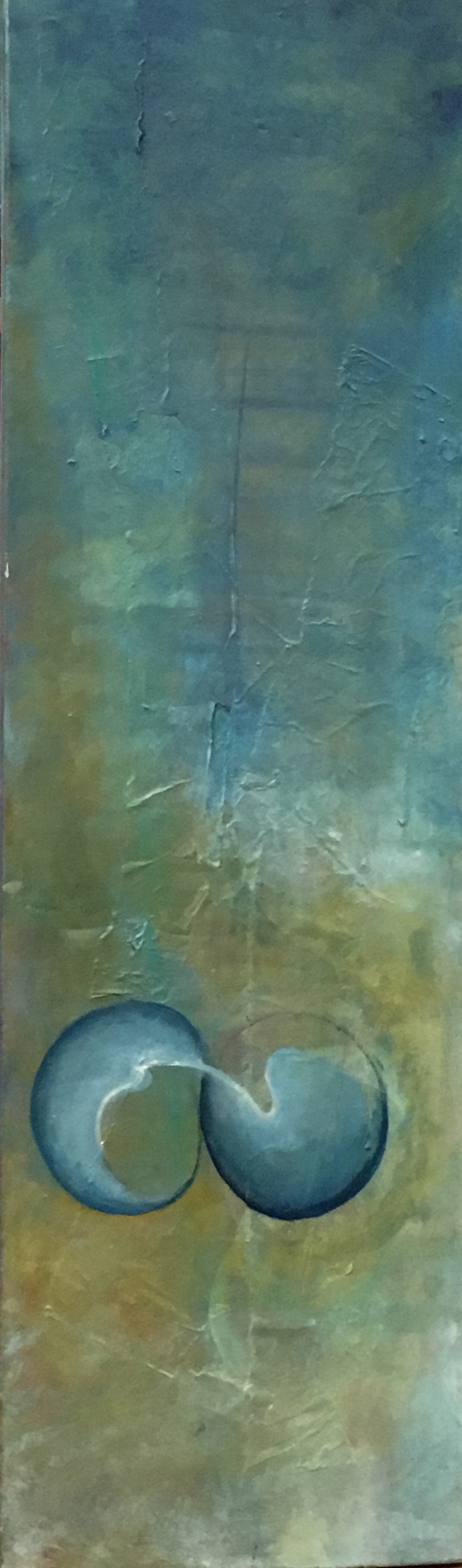 "Torn   Mixed Media  12"" x 40""  $600  Click Image to Expand   Click here to Inquire"