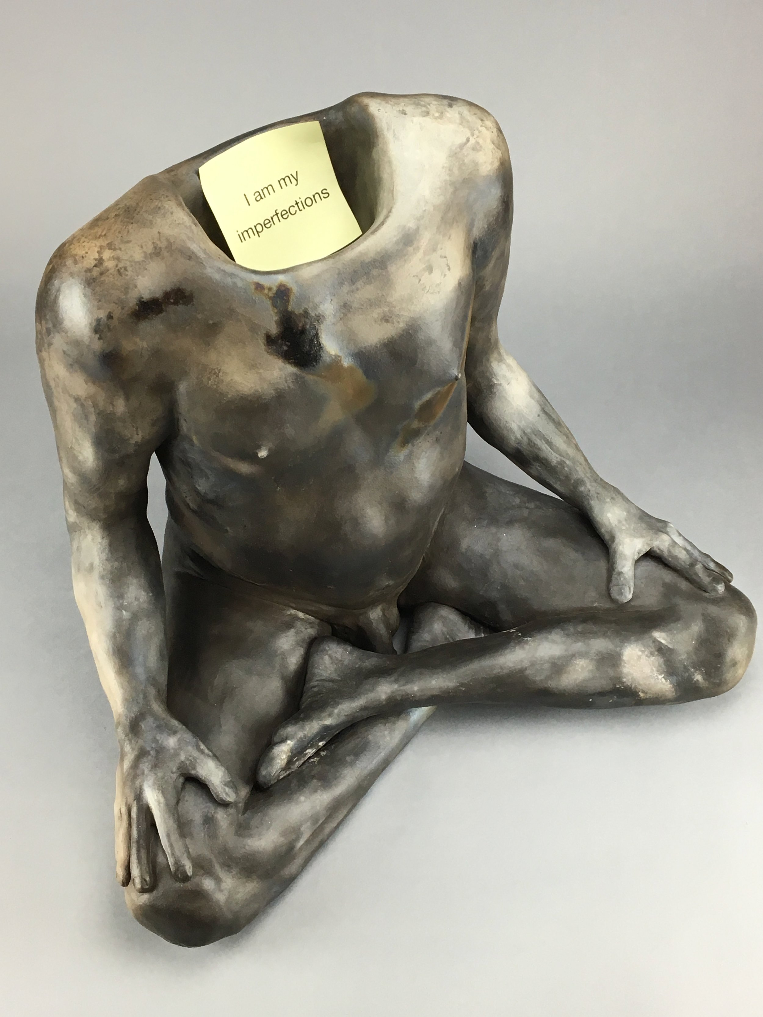 """Notes to Self   Pit-fired Ceramic, paper  19"""" x 14"""" x 16""""  $3000  Click Image to Enlarge   Click here to inquire"""