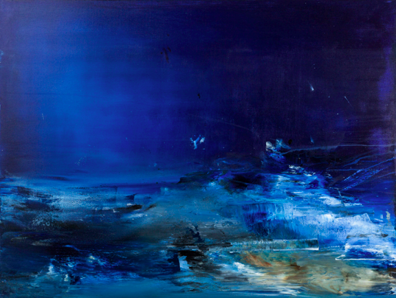 """Ocean Deep   Acrylic on Canvas  36"""" x 48""""  $2500  Click image to enlarge.   Click here to inquire."""