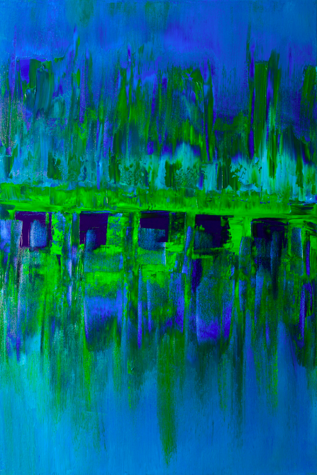 """Alone the Shore   Acrylic on Canvas  36"""" x 24""""  $1500  Click image to enlarge.   Click here to inquire."""