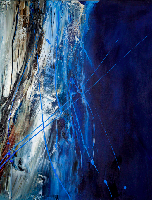 """The Rite of Strings   Acrylic on Canvas  40"""" x 30""""  $2000  Click image to enlarge.   Click here to inquire."""
