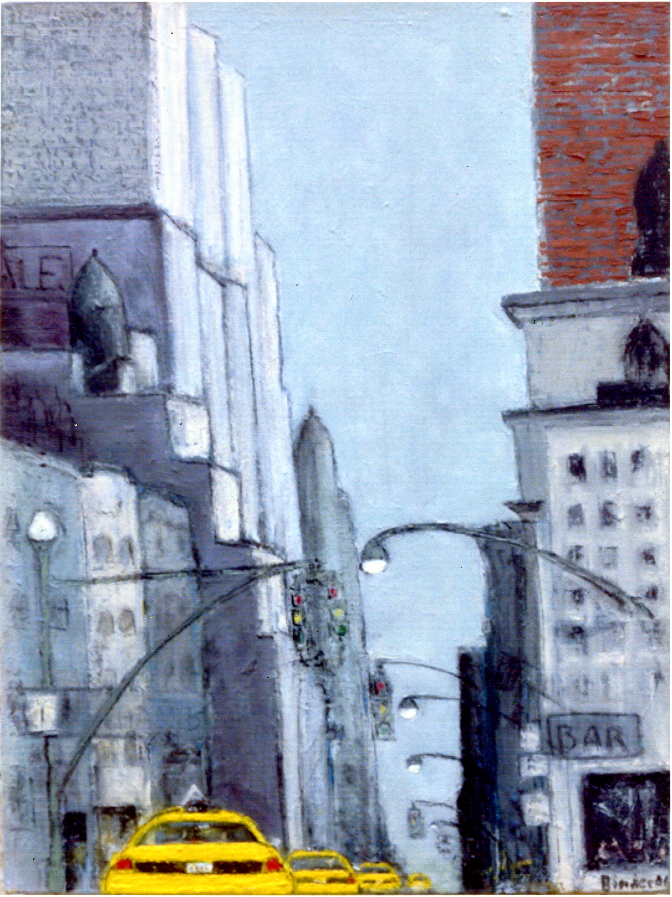"6th & 50th (East)   Oil on stretched canvas  24"" x 18"" x 1-1/4""  $885  Click to Enlarge Image   Inquire."