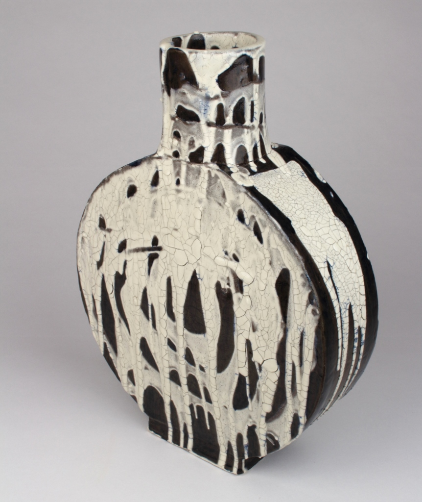 "Ceramic Vase . Stoneware and Glaze 13"" x 9"". 2016."